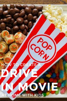 Step-by-step tips on How to Create a Drive In Movie at home including how to set up a yummy treat platter and what family-friendly movie to watch. Indoor Activities For Kids, Toddler Activities, Chocolate Covered Raisins, Drive In Movie Theater, Be With You Movie, Family Movie Night, Happy Family, Movies To Watch, Parenting Hacks