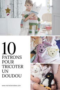 Des patrons pour tricoter un doudou / DIY doudou / Knitting pattern for kids