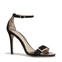 The Hampton Heel from Coach. Instant Glam !