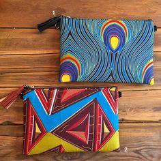 Pochette sac tissu wax clutch tissu africain ethnique