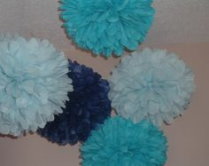 Color Samples  Tissue Paper Pom Poms