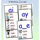 Create a print rich environment for your classroom with these 10 pages illustrating 34 Long A words using a__e, ai, ay spelling patterns. School Fun, School Stuff, School Ideas, Phonics Words, Spelling Words, Teaching Reading, Teaching Ideas, Teaching Resources, Learning