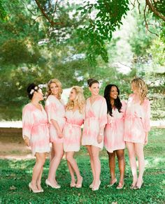 19 Best Wedding Robes Plus Size Wedding Robe For Bride And Bridal Party Bridesmaid Robes, Brides And Bridesmaids, Beautiful Bridesmaid Dresses, Bridal Dresses, Wedding Designs, Wedding Styles, Maid Of Honor, Wedding Bells, Wedding Inspiration