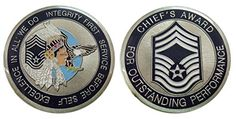 Air Force Chief Master Sergeant E9 Challenge Coin Coin Collecting Books, Coin Logo, Master Sergeant, Coin Values, Merit Badge, Challenge Coins, Usmc, Display Case, Shadow Box