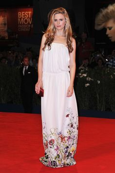 hollywood-fashion:    Brit Marling in Gucci at the Venice Film Festival premiere forThe Icemanon August 30, 2012.