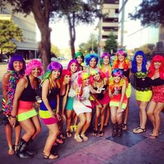 Bachlorette party! Wiggin out on 6th St. in Austin Tx! So much fun!