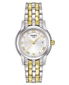 Tissot Watch, Women's Two Tone Stainless Steel Bracelet T0312102203300 - Tissot - Jewelry & Watches - Macy's