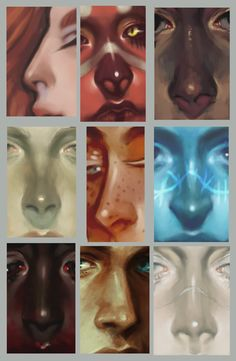 "harteus: "" super quick nose painting tutorial + a million examples, because i can't get enough of these darn noses. i wanna stroke them forever. """