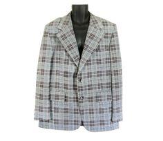 Vintage Plaid Blazer Men Sports Jacket Coat Suit 70s by #ShineBrightVintage