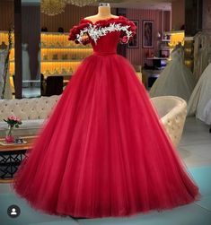 Ball Gowns, Fantasy Dress, Formal Dresses, Cheap Prom Dresses, Fashion Dresses, Cheap Tulle, Red Lace Prom Dress, Classic, Lace Applique
