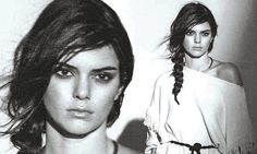 Kendall, 20, is kicking off the year by lending her good looks to Mango's latest campaign - and smoulders in the moody black and white shots.