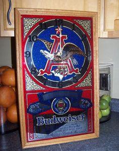 1900s Anheuser Busch Beer Tin Sign Budweiser Vintage Old
