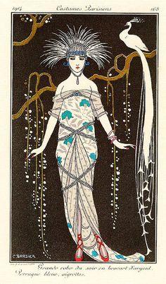 """George Barbier """"Costumes Parisiens"""" 1914"""