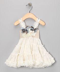 Ivory Crazy Cat Dress - Infant, Toddler & Girls $108.82USD
