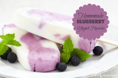 Blueberry Yogurt Popsicle Recipe This recipe is so easy and comes out so delicious! What a great treat for the kids when they come home from school. Healthy and Good!