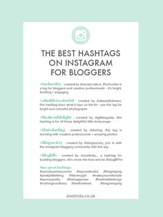 Forget using random hashtags (no matter how popular they are) and take a look at my top picks for the very best hashtags to use on Instagram for bloggers. Tips Instagram, Instagram Marketing Tips, Instagram Hashtag, Social Media Tips, Social Media Marketing, Business Hashtags, How To Use Hashtags, Web Design, Branding