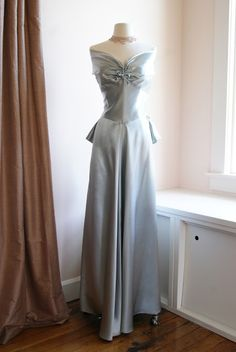1940's Satin Gown