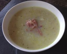 The finished bacon and turnip soup...it tasted better than it looked!