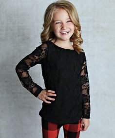 0598167e0e00 Lollies and Lace Boutique Black Lace Overlay Tee - Infant, Toddler & Girls
