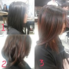PATRICK EVAN Hair Salon - San Francisco, CA, United States. Balayage with Reddish Brown Hair with Bella. I had two visits.