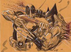 Deadpool vs. Wolverine by Vince Sunico