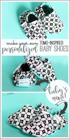 make these personalized toms baby shoes - a super fun diy to sew yourself - - I LOVE how they turned out!! super cute baby gift idea, with FREE pattern, score! - - Sugar Bee Crafts