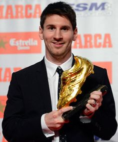 Lionel Messi receives Golden Boot as Europe's top scorer