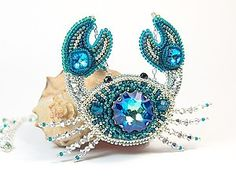 Create a crab of beads and crystals Swarovski |  Fair Masters - handmade, handmade