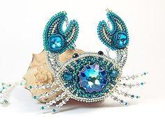 Create a crab of beads and crystals Swarovski    Fair Masters - handmade, handmade
