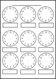 Digital Clock Worksheets Along with Free Printable Blank Clock Faces Worksheets Clock Worksheets, Free Kindergarten Worksheets, Worksheets For Kids, Math Resources, 1st Grade Worksheets, Printable Maths Worksheets, Abc Kindergarten, Kindergarten Addition, Addition Worksheets