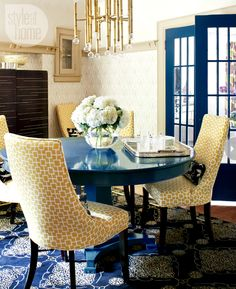 Mix and Chic: an updated dining room. Amazing how an older space can be transformed to look fresh and new.