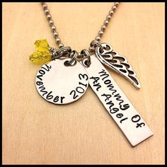 Hand+Stamped+Necklace+Mommy+Of+An+Angel+by+HandStampedSteel,+$21.95
