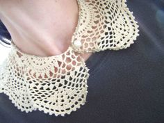 Made by Me. Shared with you.: Vintage Lace Collar From a Doily: a Tutorial