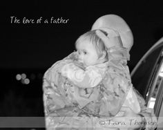 My husband saying goodbye to our younger daughter the night he left for Afghanistan. :'(
