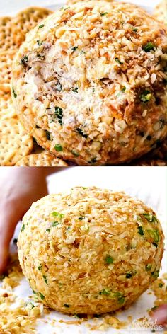 Appetizer Recipes Discover Hawaiian Cheese Ball This Hawaiian Cheese Ball is bursting with cheeses pineapple coconut and green onions coated in macadamia nuts! It takes minutes to whip up and is the ideal make ahead appetizer for GAME day or parties! Thanksgiving Appetizers, Yummy Appetizers, Appetizers For Party, Thanksgiving Recipes, Appetizer Recipes, Seafood Appetizers, Easter Recipes, Cream Cheese Appetizers, Hawaiian Appetizers