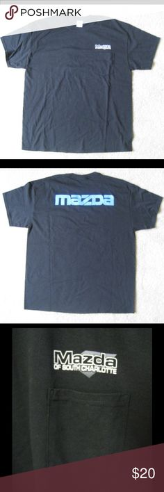 """⚫️ Mazda T-Shirt, Size XL, NWOT, Black ⚫️ ✔️ Mazda of South Charlotte T-Shirt ✔️ Size: XL ✔️ Color: Dark Black  ✔️ 100% Cotton Preshrunk ✔️ New without Tags  📐Measurements (approx. and laid flat)📐 📍 Length: 31"""" 📍 Chest (armpit to armpit): 24"""" 📍 Sleeve length: 7.5"""" 📍 Sleeve opening: 8""""  🚩If you have any other questions, please don't hesitate to ask below📥 Mazda Shirts Tees - Short Sleeve"""