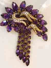 hobe jewelry | vintage signed hobe huge extravagant brooch this signed hobe ...