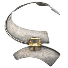 ART SMITH Sterling and Citrine Modernist Neckpiece (1960's)  USA  1955-72.  Saw this in New York at Leah Gordon's place...amazing