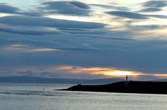 Faro en el Estrecho de Magallanes, bahía de Porvenir
