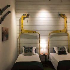 Design: Line and Form – Ski Lift Designs Rental Decorating, Ski House Bedroom, Condo Decorating, Ski House Decor, House, Ski Decor
