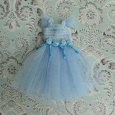 Blue Polka Dot and Rooster Dress for 12 Blythe by MissMilupka