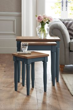 Buy Shaftesbury Nest Of Tables from the Next UK online shop Furniture, Mattress Furniture, Dining Bench, Solid Oak, Table, Entryway Tables, Furniture Collection, Home Decor, Bedding Collections