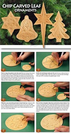Chip Carved Leaf Ornaments - Wood Carving Patterns and Techniques | WoodArchivist.com