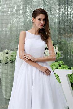 A-Line Knee-Length Sleeveless Chiffon Wedding Party Bridesmaid Dress