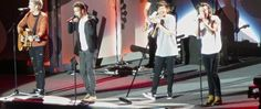 The boys on stage in Milwaukee, Wisconsin - I WAS THERE AND HIS SWEATER MADE ME WANT TO CRY