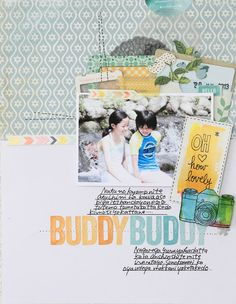 #papercraft #scrapbook #layout American Crafts layout and card