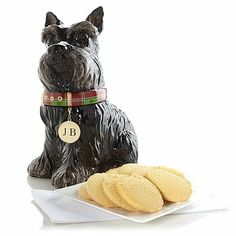 Jeffrey Banks Scottie Dog Jar with David's Cookies Shortbread at HSN.com