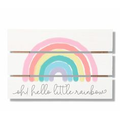 Great for Weiner Little Rainbow Gap Pallet Wall Decor by Isabelle Max baby kid teen offer from top store Playroom Wall Decor, 3d Wall Decor, Nursery Wall Decals, Playroom Ideas, Baby Playroom, Letter Wall Decor, Bedroom Decor, Playroom Design, Nursery Ideas