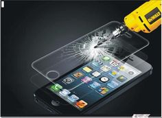 Apple Iphone 4 Clear Anti-scratch Tempered Glass Screen Shield Film Protector  #UnbrandedGeneric