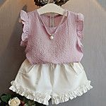 Summer Girls Clothing Sets Kids Baby Girls Outfits Clothes Sleeveless T-shirt+White Shorts 2 PCs Set Children Clothes Girls Summer Outfits, Toddler Girl Outfits, Short Outfits, Kids Outfits, Summer Girls, Toddler Girls, Batman Outfits, Rock Outfits, Emo Outfits